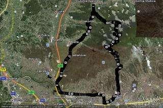 GPS track prelaska Medvednice 16.08.2009. na maloj plavoj